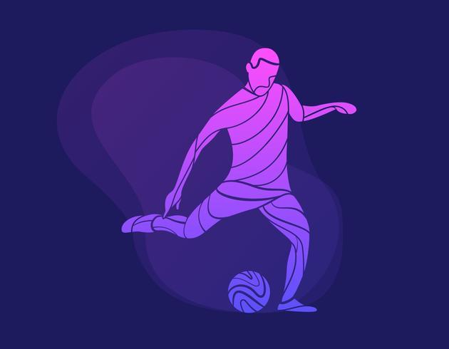 Awesome abstracte voetballer vectoren