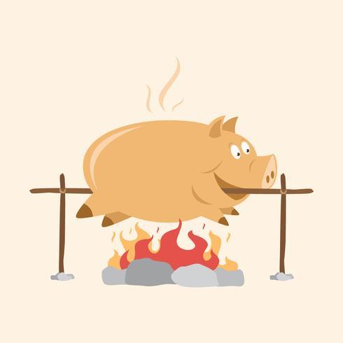 Fette Schwein-Braten-Illustration
