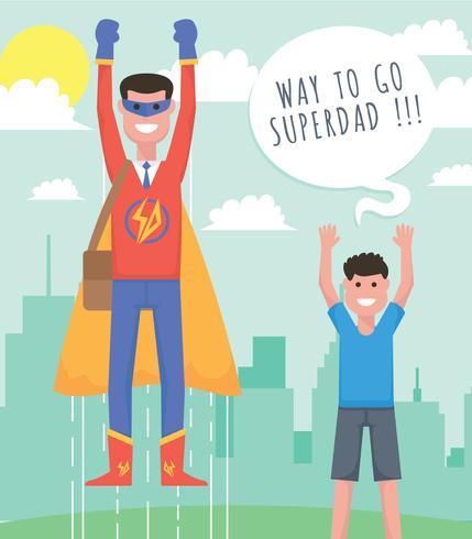 Superhelden Vater Vektor-Illustration