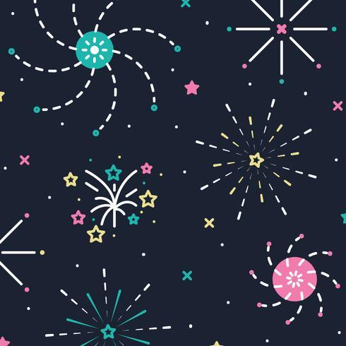 Starry Sky With Fireworks