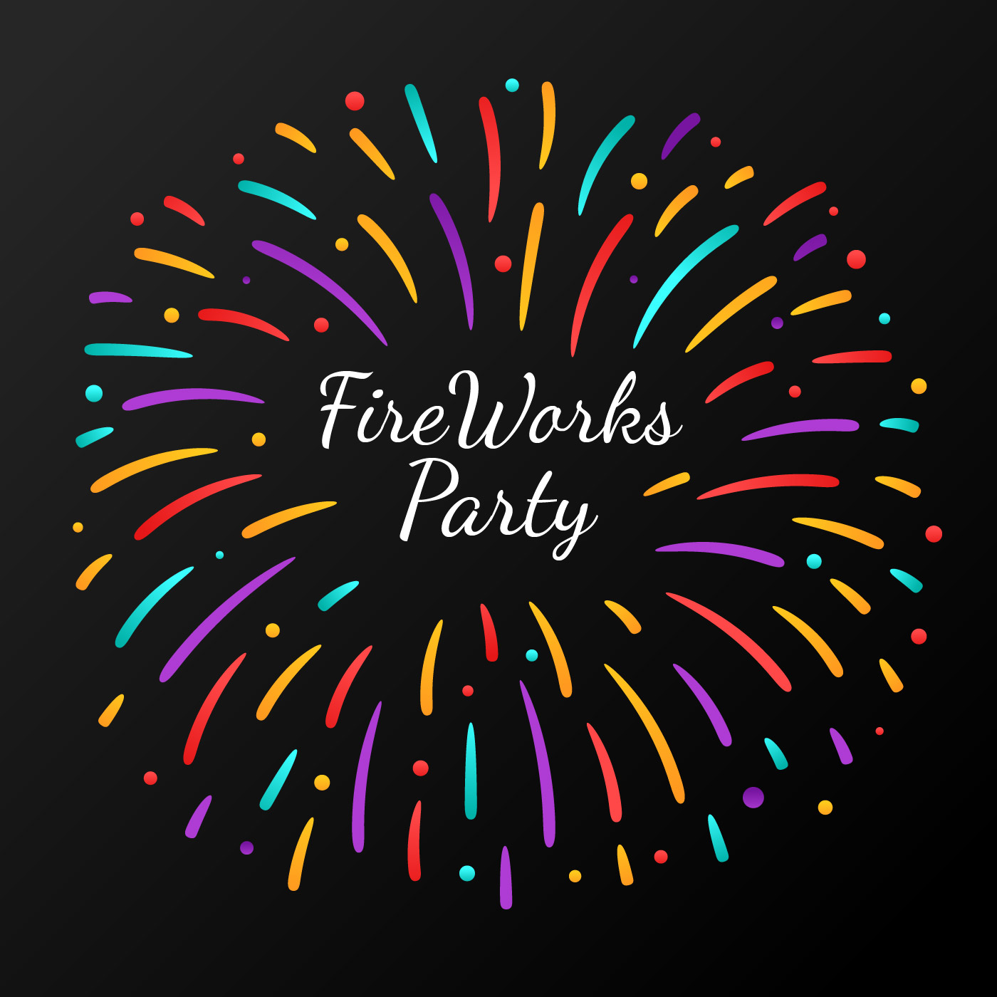 Celebration Fireworks Party Download Free Vector Art