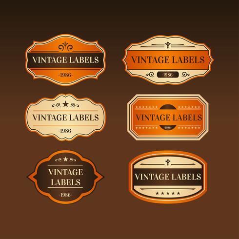 Vector de etiqueta Vintage