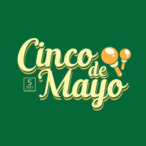 Hand Lettering of Cinco de Mayo vector