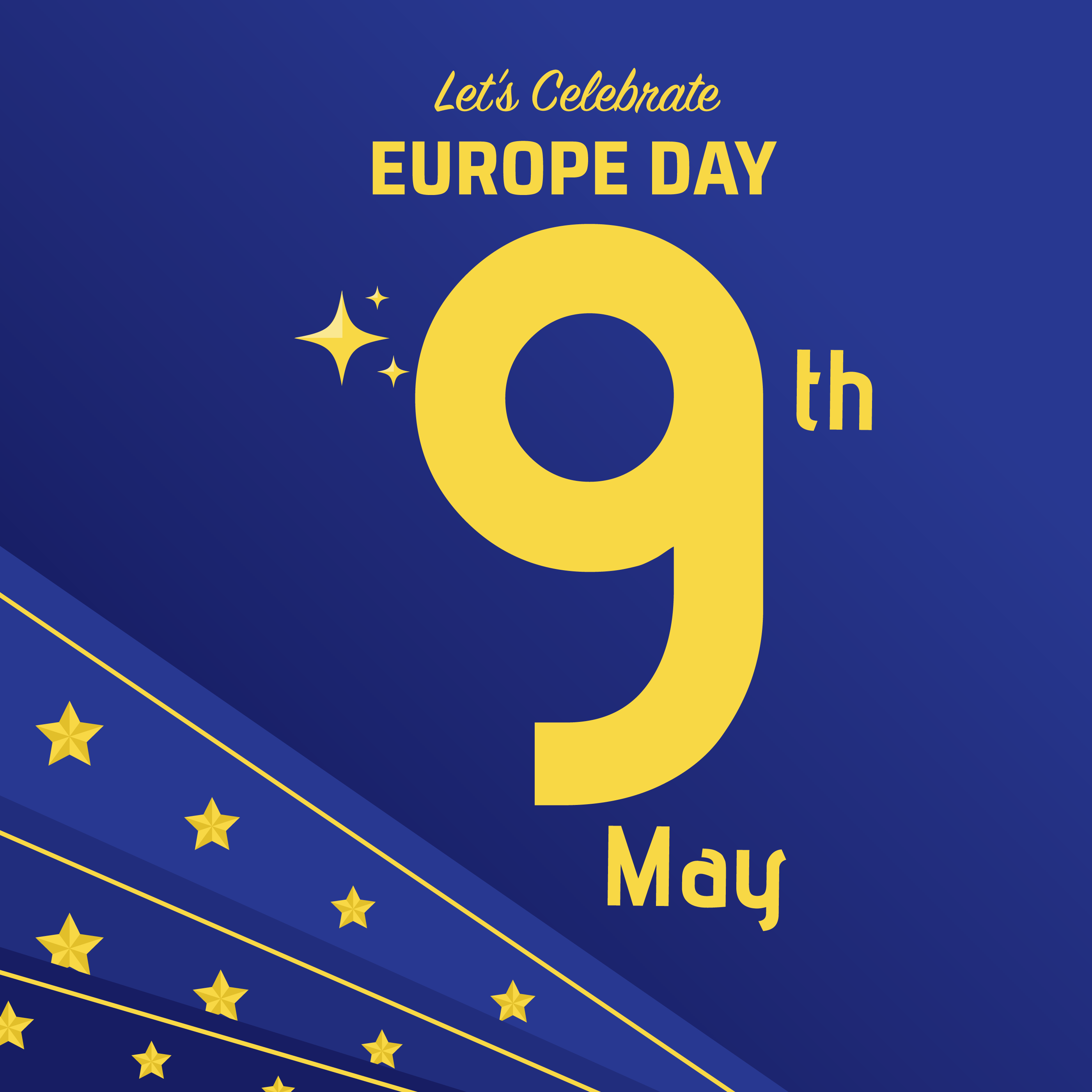 Europe Day Celebration Background Download Free Vector