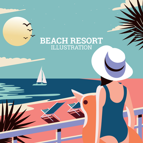 Ilustración de Beach Resort