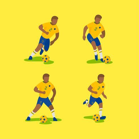 Vetor de personagens de futebol brasileiro