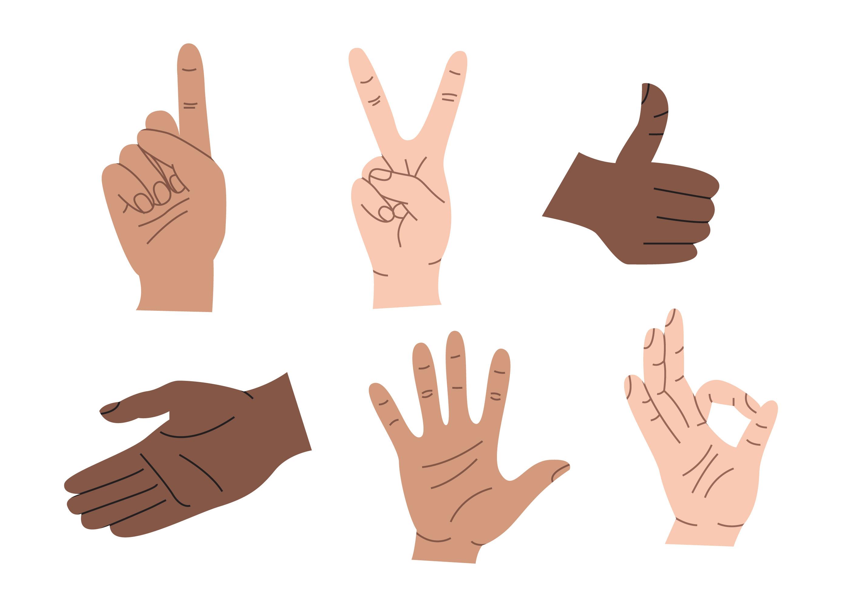 Hand Gestures Free Vector Art 8879 Free Downloads