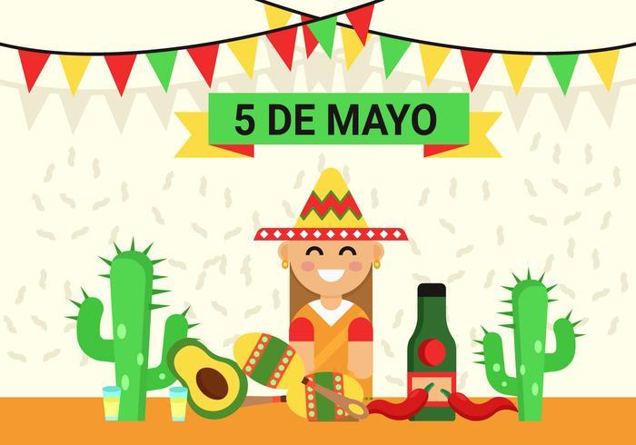 Cinco de Mayo bakgrunds illustration