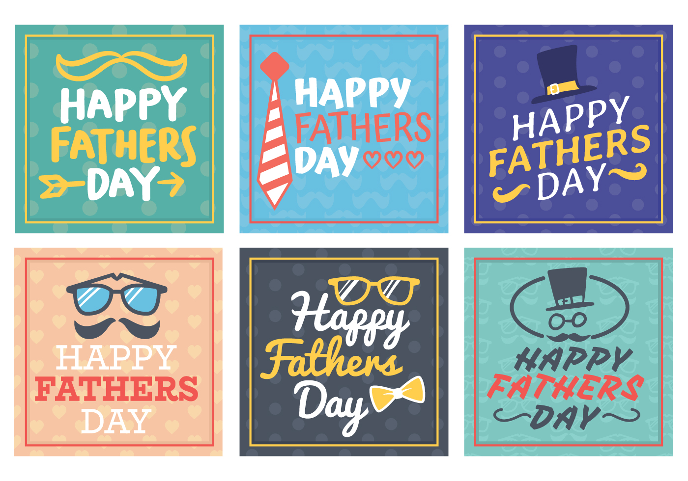 Happy Fathers Day Greetings Card Download Free Vector Art Stock