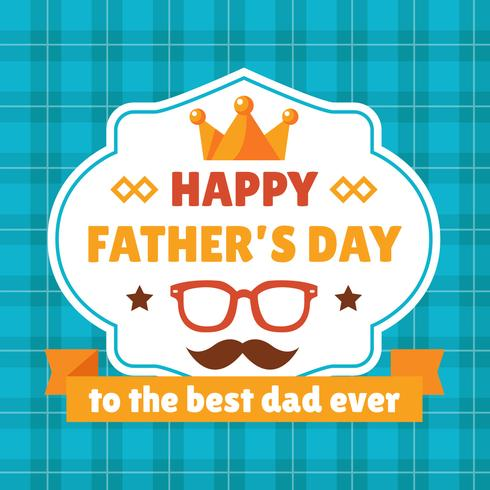 Happy Father's Day Badges vector