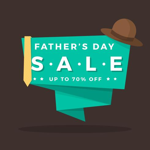 Flat Father's Day Sale Vector Illustration