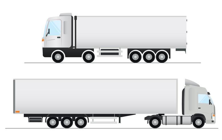 Conception de camion réaliste de vecteur