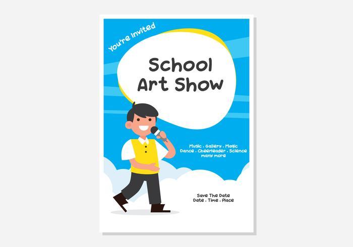 Cartaz da mostra de arte da escola