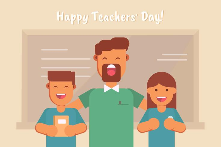 Teaches Day Vector