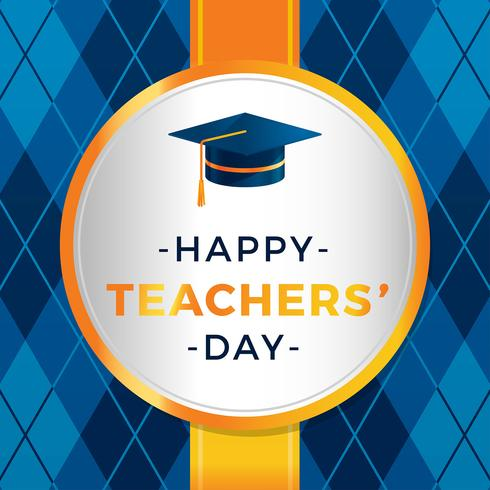 Teacher Day Greeting Vector
