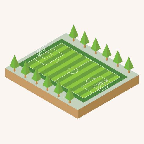 Isometric Soccer Field Illustration vector
