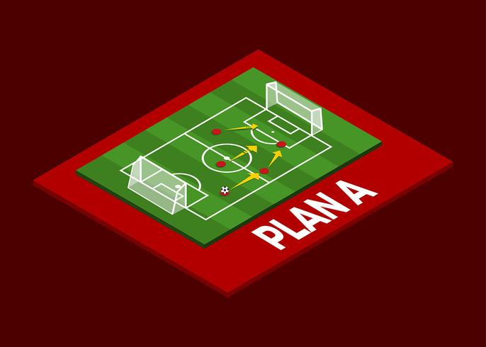 Isometric Soccer Formation Vector
