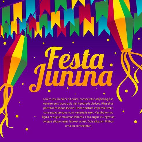 Festa Junina Greeting Vector
