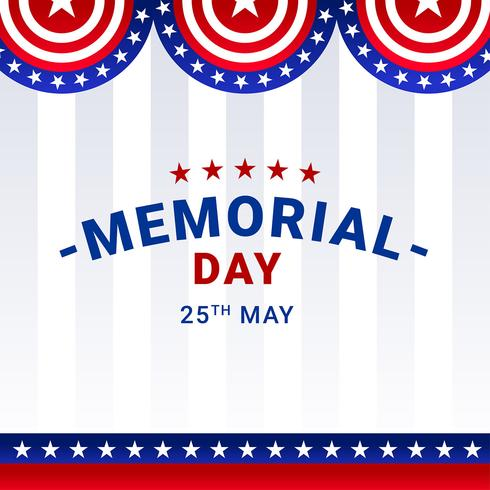 Memorial Day Decoration Vector