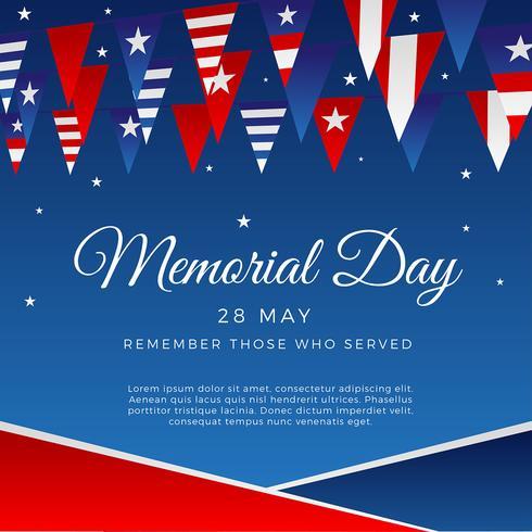 Memorial Day Decor Vector