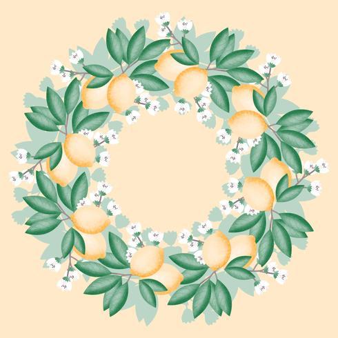 Vector Lemon Wreath
