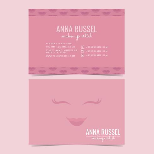 Vector makeup artist business card download free vector art stock vector makeup artist business card colourmoves