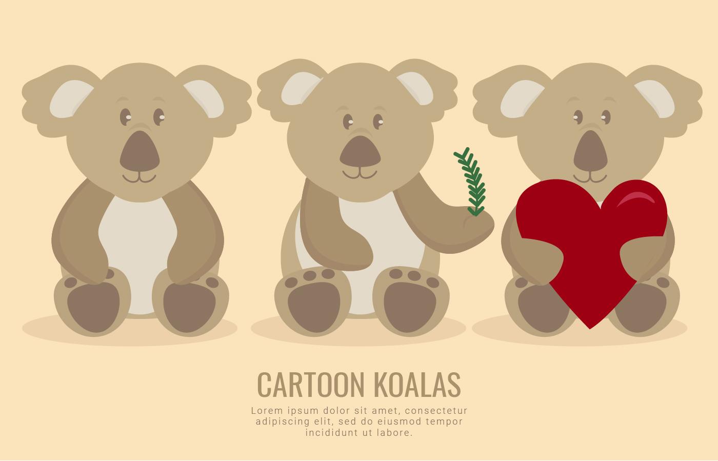 Vector Koalas lindos - Descargue Gráficos y Vectores Gratis