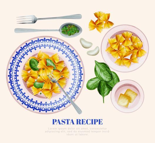 Vector Pasta Recept