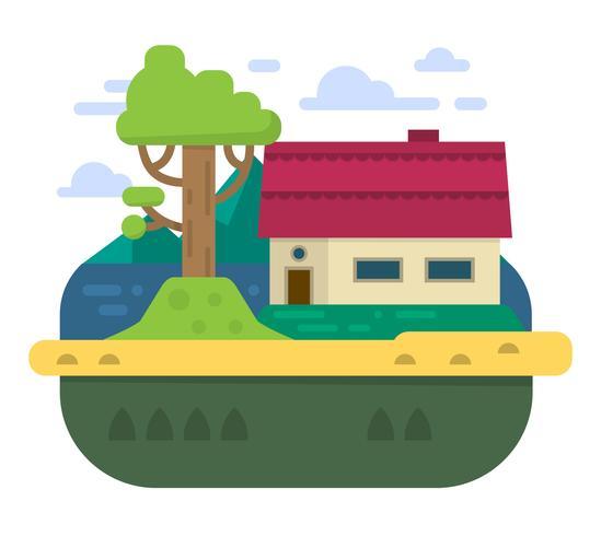 Flat Family House