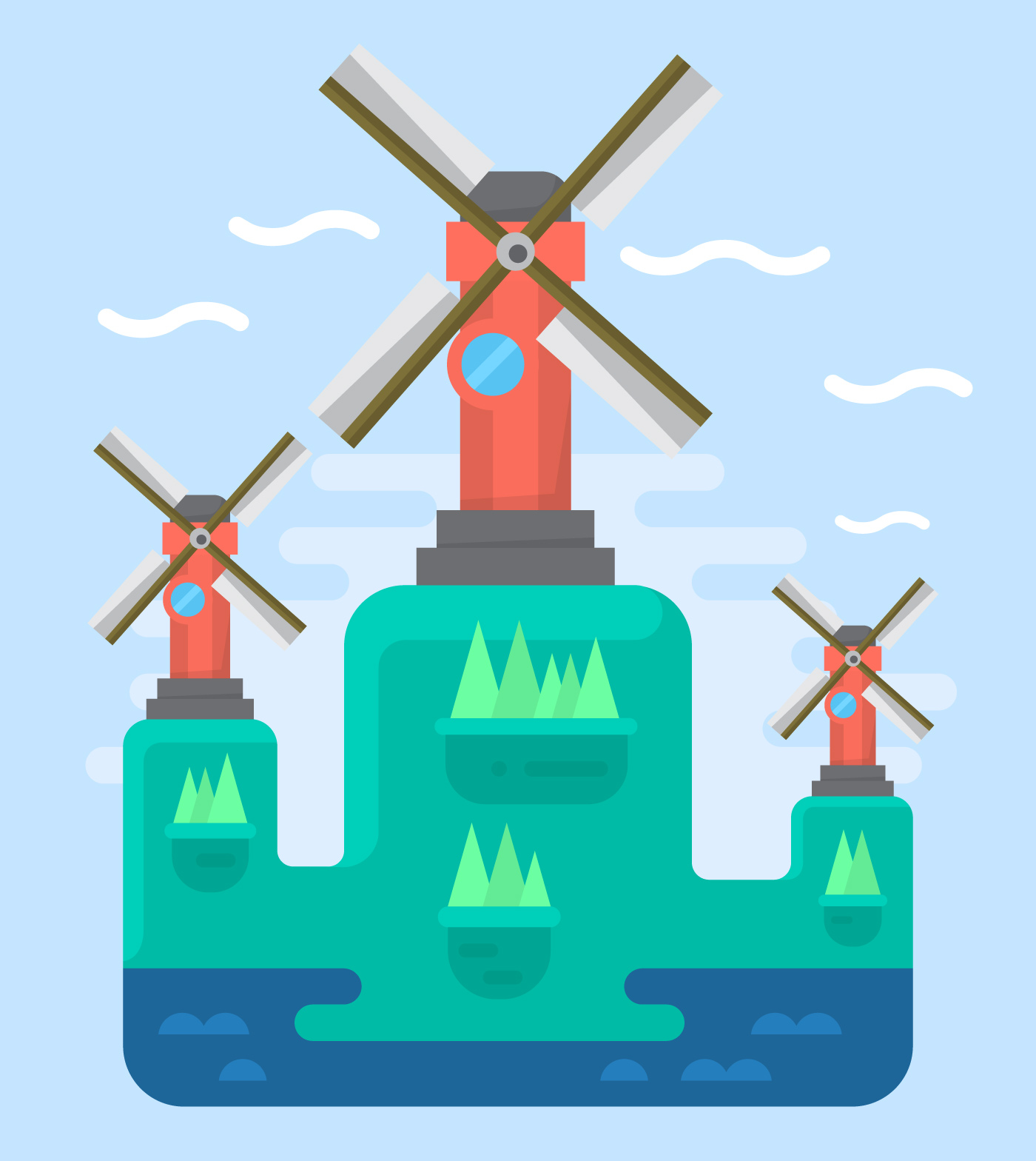 Windmill Free Vector Art