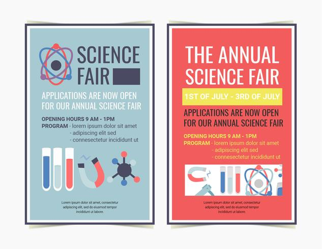 Affiches de Vector Science Fair