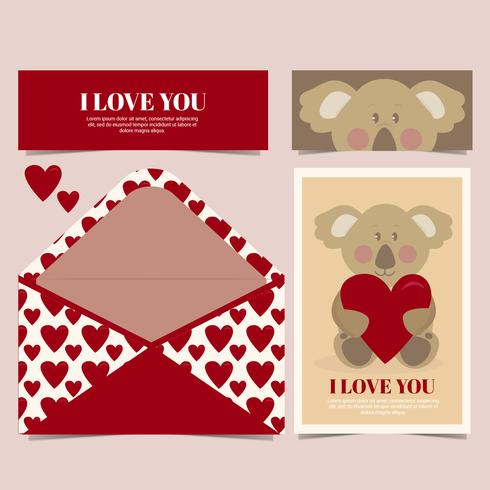 Vector Cute Koala Card