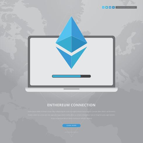 Ethereum Network and Technology Illustration