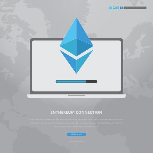 ethereum nätverk och teknik illustration vektor