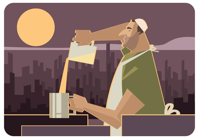 Gaza Street Food Maker Vector