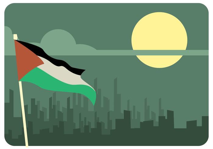 Vector de la noche de Gaza