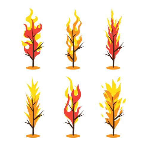 brinnande buskevektor