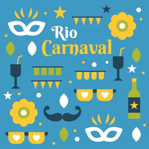 Vector de carnaval de rio
