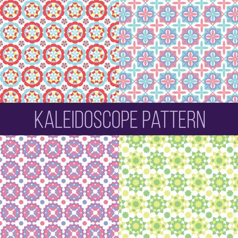 Kaleidoscope Pattern Collection Vector