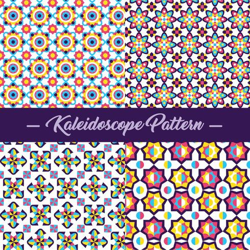 Vecteur de modèle Kaléidoscope abstraite
