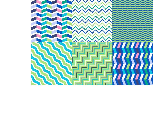 Zigzag achtergronden vector