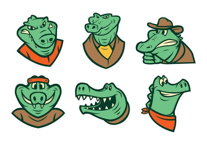 Kostenlose Krokodil-Logo-Vektor