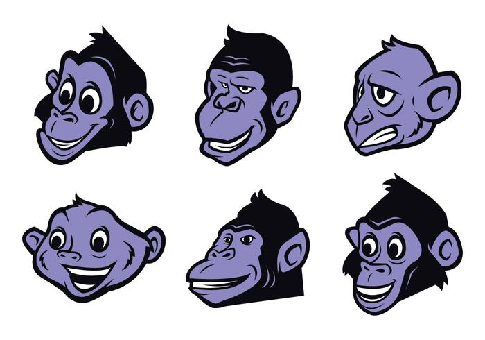 vetor de logotipo de macaco grátis