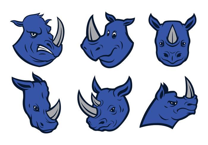 fri noshörningslogo vektor