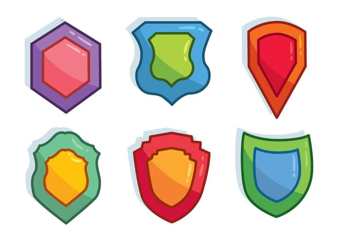 Colored Shield Shape Vector