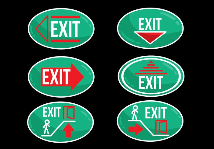 Emergency Exit Oval Sign