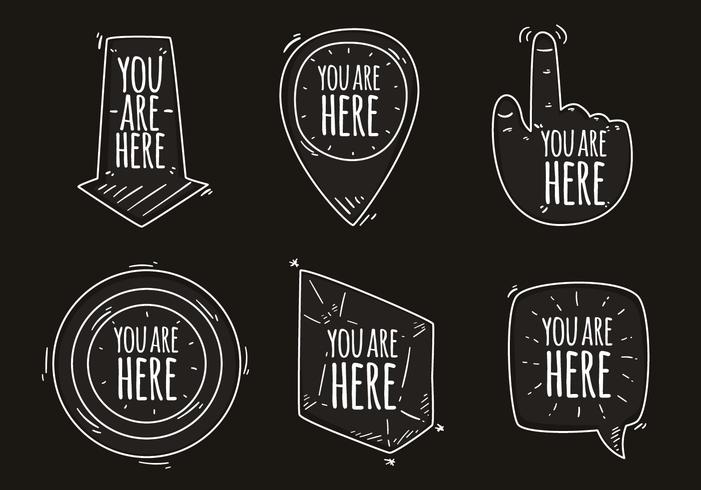 You Are Here Quote Vectors