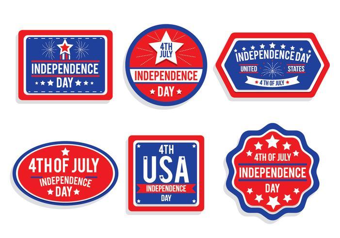 självständighetsdag badge vektorer