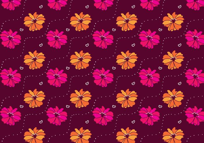 Magenta Rhododendron Flowers Pattern Vector