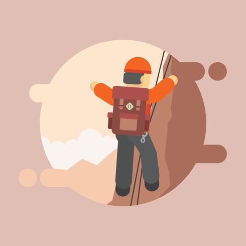 Rappel Tools and Equipment, Hiking Illustration.
